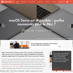 macOS Sierra est disponible : quelles nouveautés pour le Mac ? - Tech