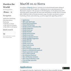 MacOS 10.12 Sierra — Harden the World 0.1 documentation