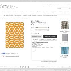 Tapis en coton Siesta Jaune Liv Interior - Décoration