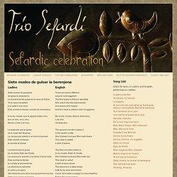 Siete modos de guisar la berenjena - Trio Sefardi