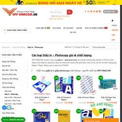 Siêu Thị Giấy In - Photocopy A3, A4, A5 Giá Rẻ Nhất