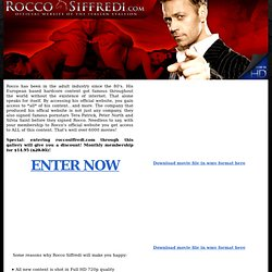 Rocco Siffredi - The Italian Stallion