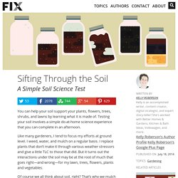 Sifting Through the Soil