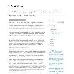 SIGdeletras: Cartotecas
