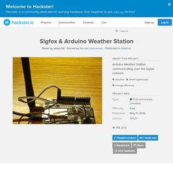Sigfox & Arduino Weather Station