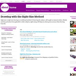 Sight Size Drawing Method