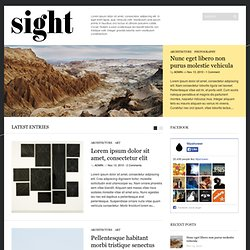 Sight | Wordpress Theme Demo