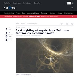First sighting of mysterious Majorana fermion on a common metal