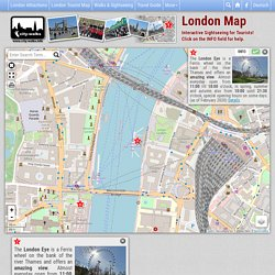 London Tourist Map for Sightseeing - Interactive