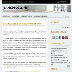 Sigil, un éditeur de livre numérique