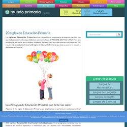 Siglas de Educación Primaria - mundoprimaria.com