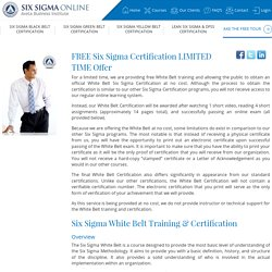 Free Six Sigma Certification - Six Sigma White Belt
