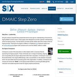 DMAIC Six Sigma Methodology DMAIC for Six Sigma