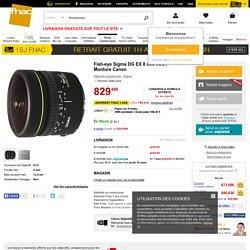 Fish-eye Sigma DG EX 8 mm f/3.5 , Monture Canon - Objectif à focale fixe