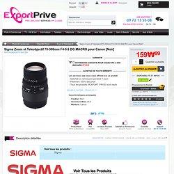 Sigma Zoom et Teleobjectif 70-300mm F4-5.6 DG OS MACRO pour Canon [Noir]