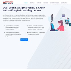 Lean Six Sigma Yellow and Green Belt Certification