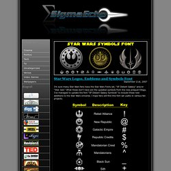 SigmaEcho » Blog Archive » Star Wars Logos, Emblems and Symbols Font