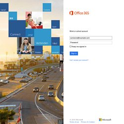 Office 365 - Sign in to your account