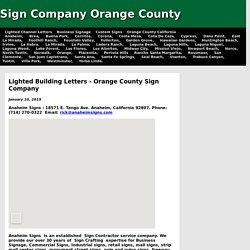Sign Company Orange County Ca