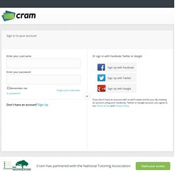 Sign in to Cram.com