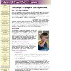 Sign Language in Down Syndrome
