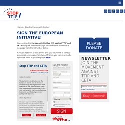 Sign the ECI!