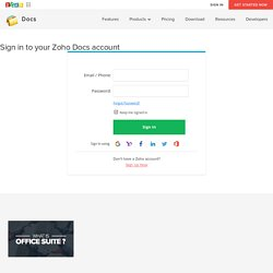 Sign in to your Zoho Docs Account
