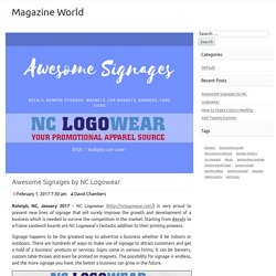 Awesome Signages by NC Logowear – Magazine World