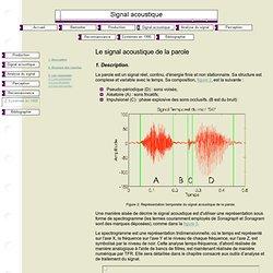 Signal acoustique