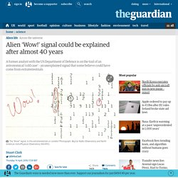 Alien 'Wow!' signal could be explained after almost 40 years