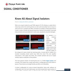 Know All About Signal Isolators