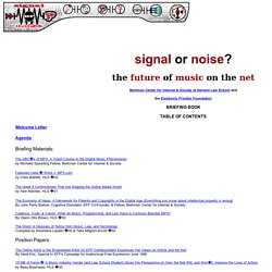 Signal or Noise: the Future of Music on the Net