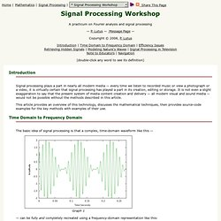 * Signal Processing Workshop