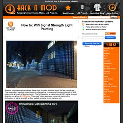 How to: Wifi Signal Strength Light Painting