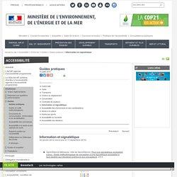 Information et signalétique - Ministère de l'Environnement, de l'Energie et de la Mer