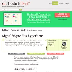 Signalétique des hyperliens