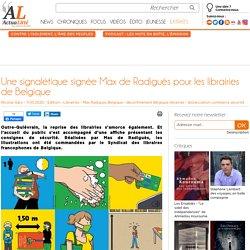 Une signalétique signée Max de Radiguès pour les librairies de Belgique