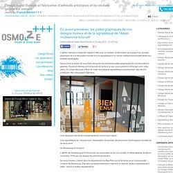 En avant premières, les pistes graphiques de nos designs muraux et de la signalétique de l'Aapei, multiservice educatif. - Design Mural Osmoze