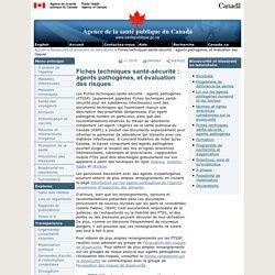 Santé Canada - FICHE TECHNIQUE SANTÉ-SÉCURITÉ - MATIÈRES INFECTIEUSES