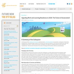 : Signaling Work and Learning Readiness in 2030: The Future of Assessment