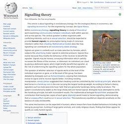 Signalling theory - Wikipedia