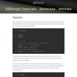 Signals in Godot