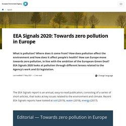 Alexandru - EEA Signals 2020: Towards zero pollution in Europe