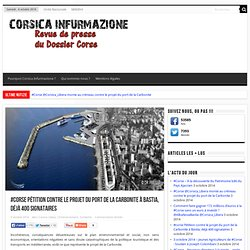 Qu'est-ce que le Projet du port de la Carbonite à Bastia