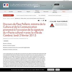 Signature du « Pacte culturel » avec la ville de Cambrai, lundi 2 février 2015