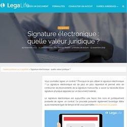 la signature électronique : quelle valeur juridique ?