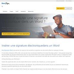 Insérer une signature électroniquedans un Word