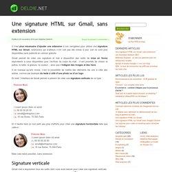 Une signature HTML sur Gmail, sans extension