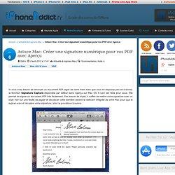 Astuce Mac: Créer une signature numérique pour vos PDF avec Aperçu