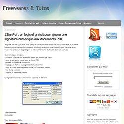 un logiciel gratuit pour ajouter une signature numérique aux documents PDF